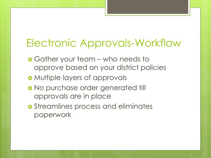 Electronic Approvals-Workflow