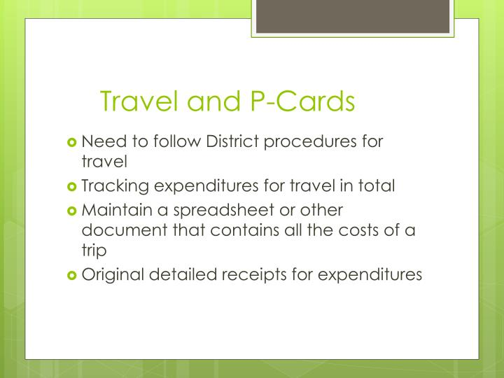 Travel and P-Cards