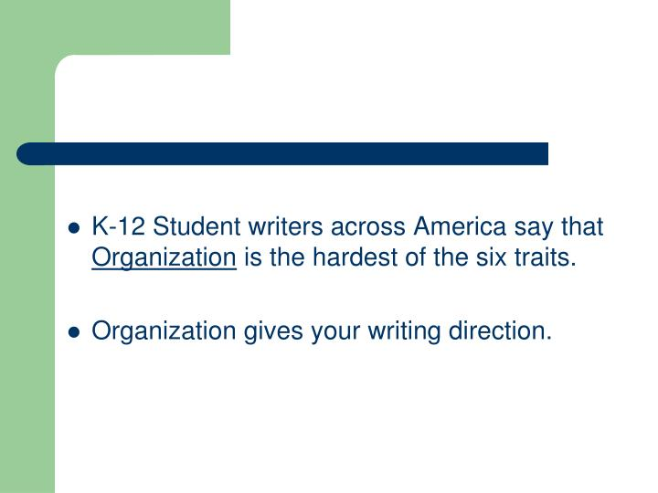 K-12 Student writers across America say that