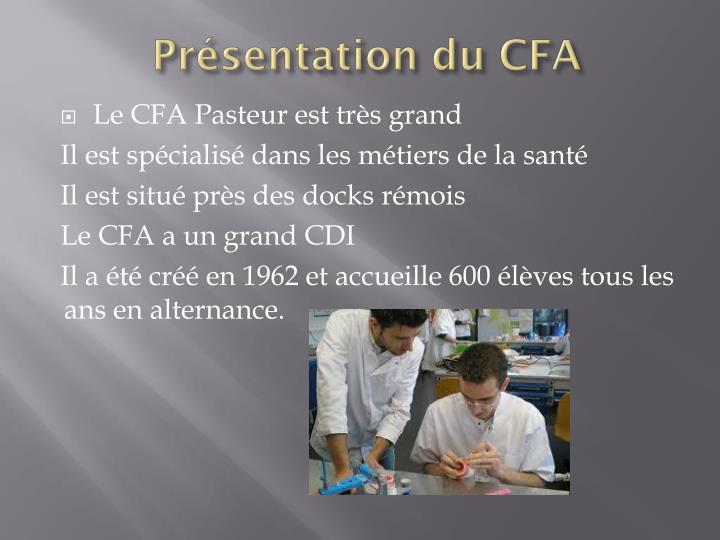 Présentation du CFA