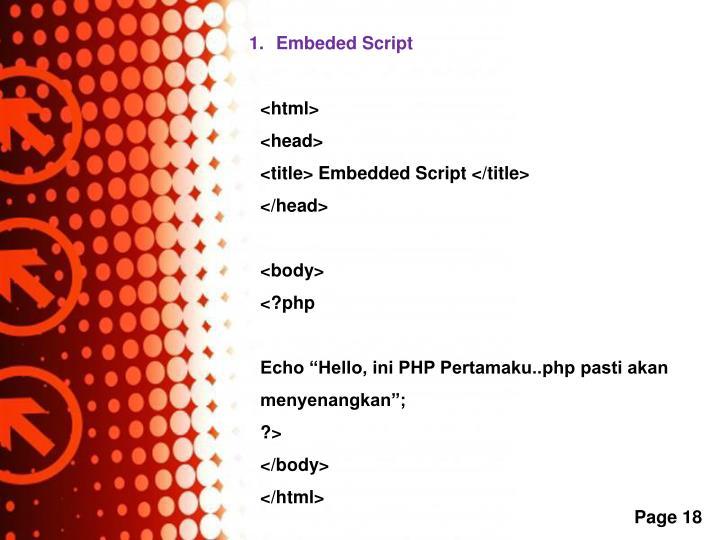 Embeded Script