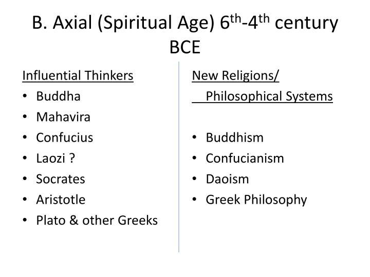 B. Axial (Spiritual Age) 6