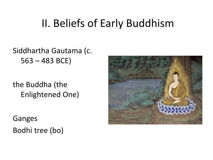 II. Beliefs of Early Buddhism