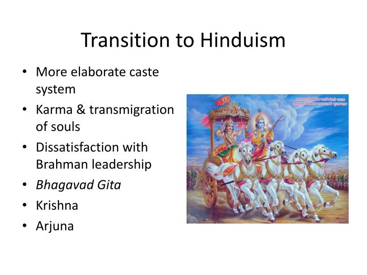 Transition to Hinduism