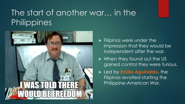 The start of another war… in the Philippines