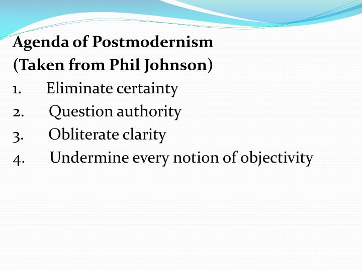 Agenda of Postmodernism