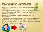 treatment for nyctophobia