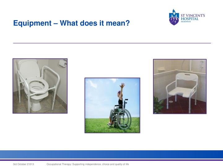 Equipment – What does it mean?