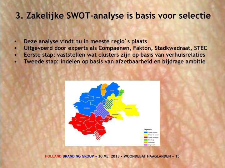 3. Zakelijke SWOT-analyse is basis voor selectie