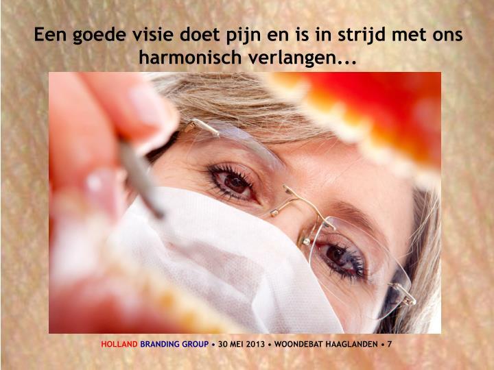 Een goede visie doet pijn en is in strijd met ons harmonisch verlangen...