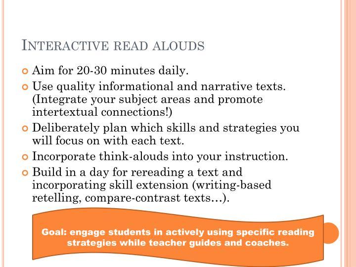 Interactive read
