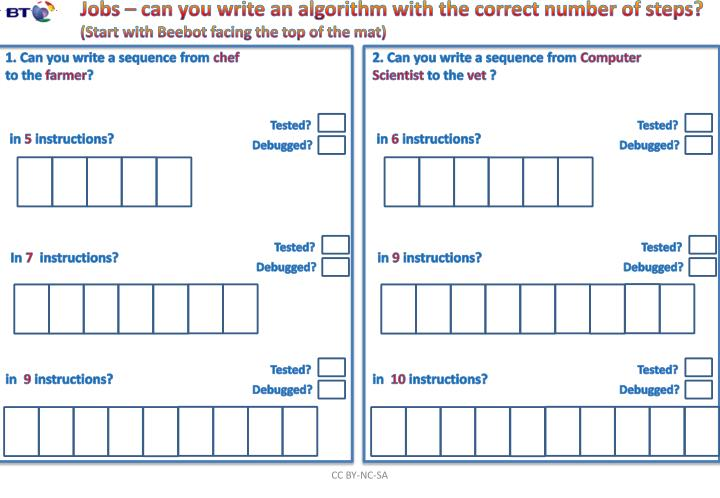 Jobs – can you write an algorithm with the correct number of steps?