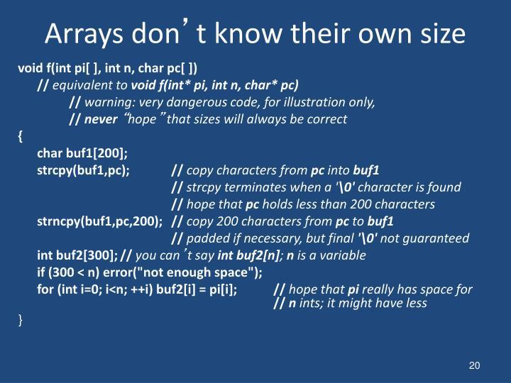 Arrays don