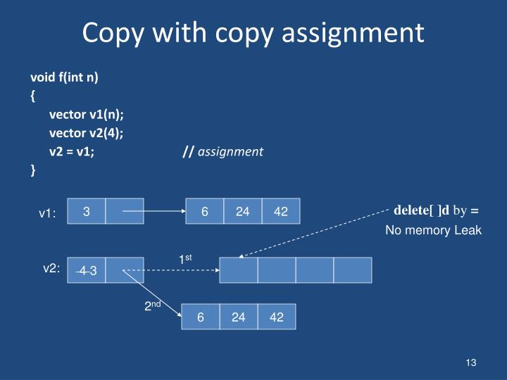 Copy with copy assignment