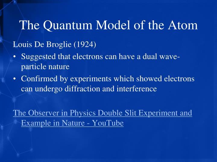 The Quantum Model of the Atom