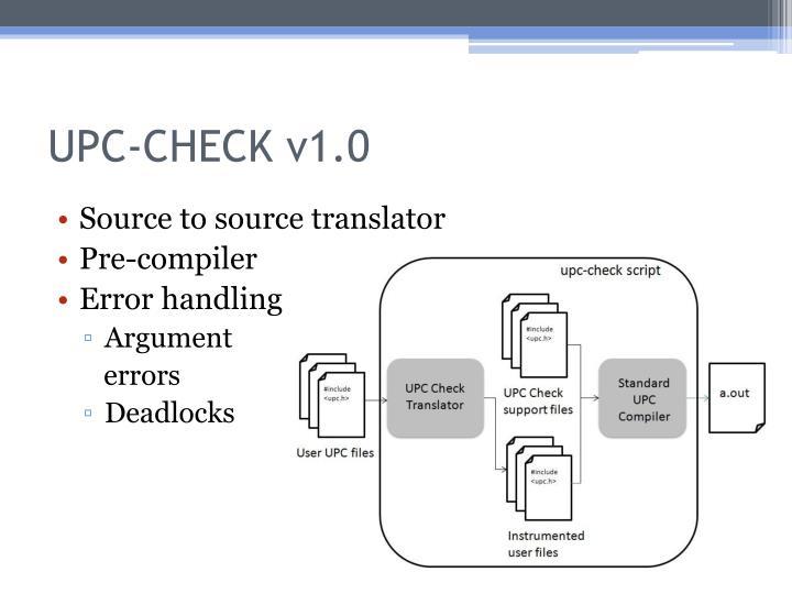 UPC-CHECK v1.0