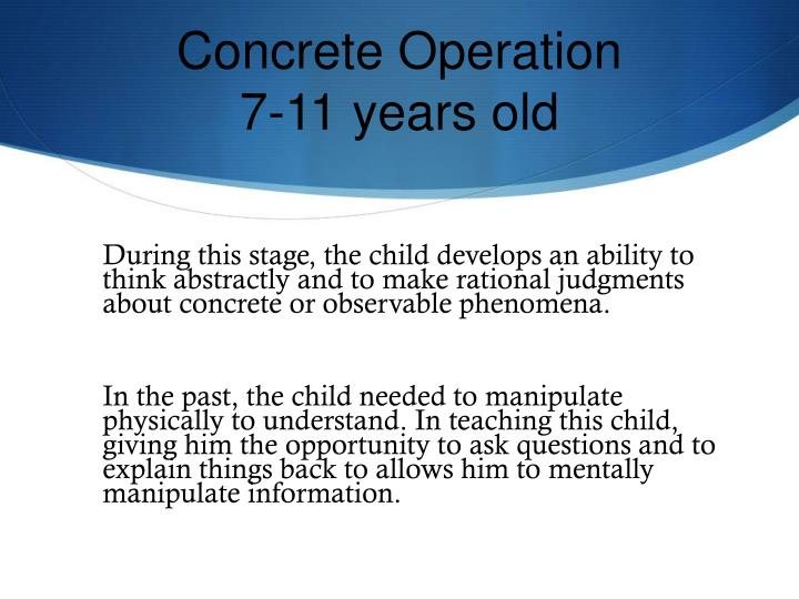 Concrete Operation