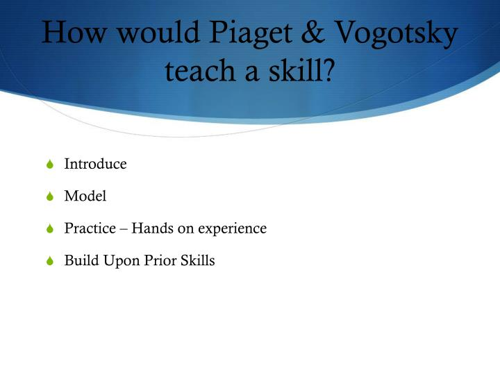 How would Piaget &