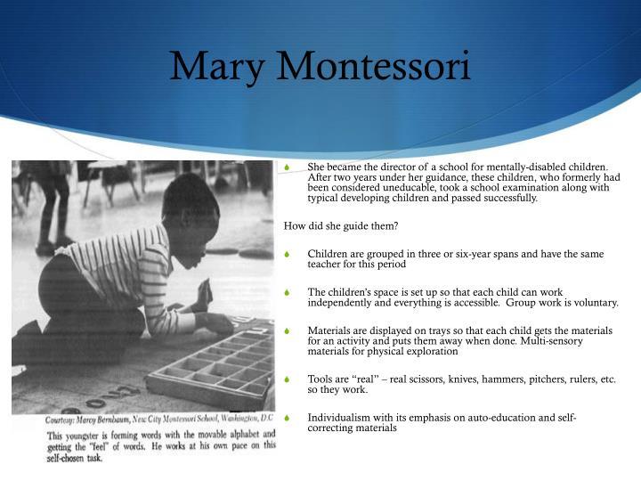 Mary Montessori
