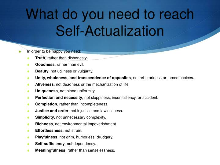 What do you need to reach