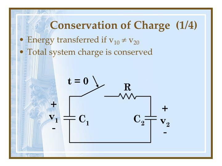 Conservation of charge 1 4
