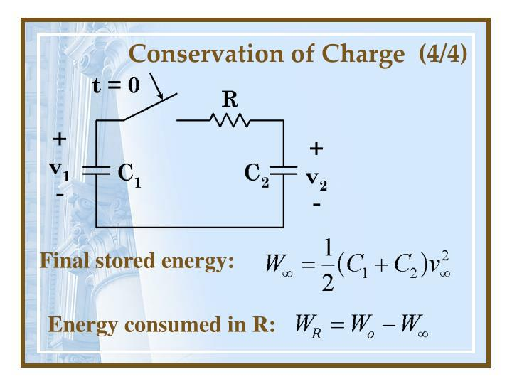 Conservation of Charge  (4/4)
