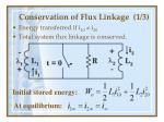 conservation of flux linkage 1 3