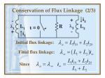 conservation of flux linkage 2 3