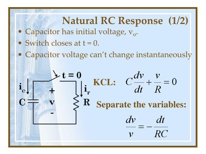 Natural RC Response  (1/2)