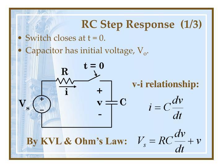RC Step Response  (1/3)