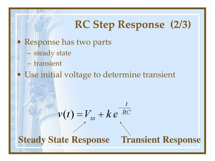 RC Step Response  (2/3)