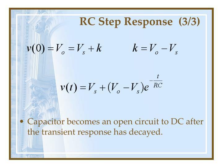 RC Step Response  (3/3)