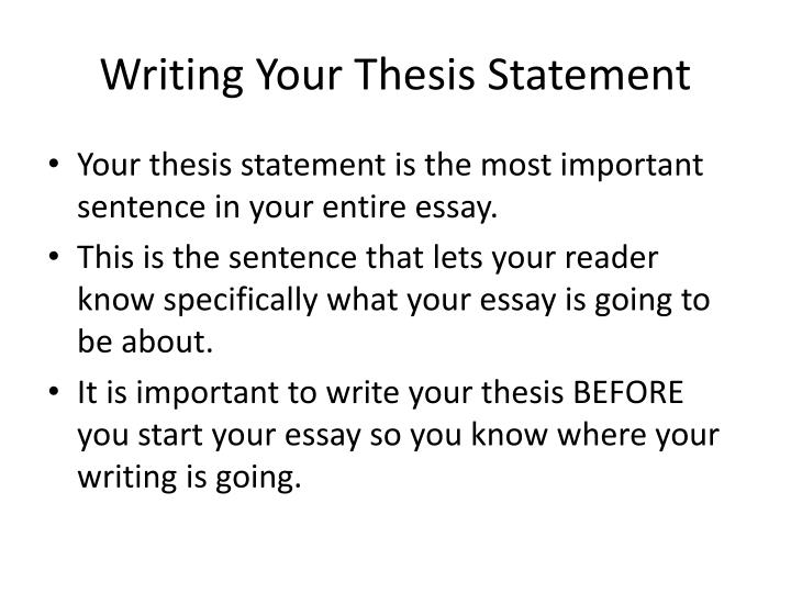 why is a thesis important in writing