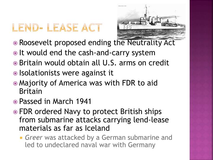 Lend- Lease act