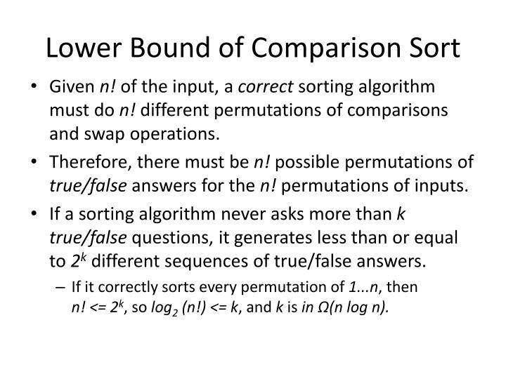 Lower Bound of Comparison Sort
