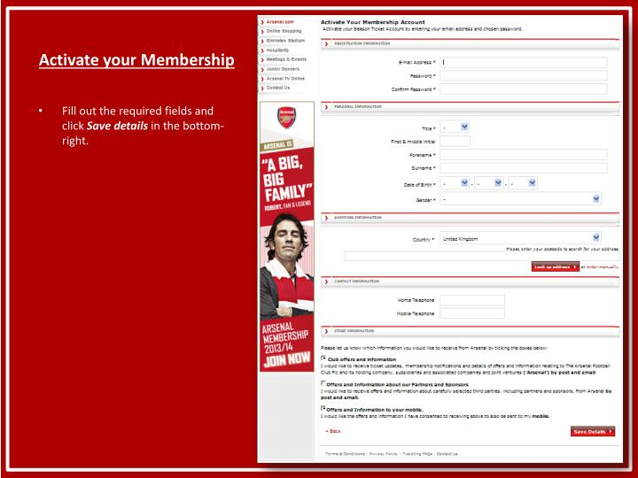 Activate your membership2