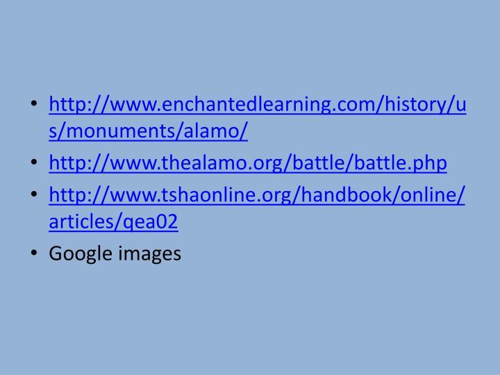 http://www.enchantedlearning.com/history/us/monuments/alamo/