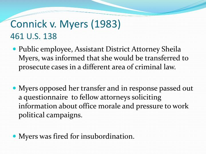 Connick v. Myers (1983)