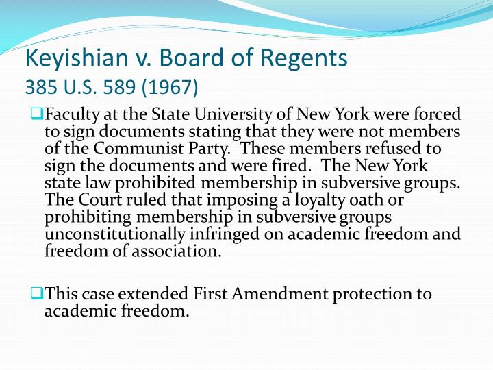 Keyishian v. Board of Regents