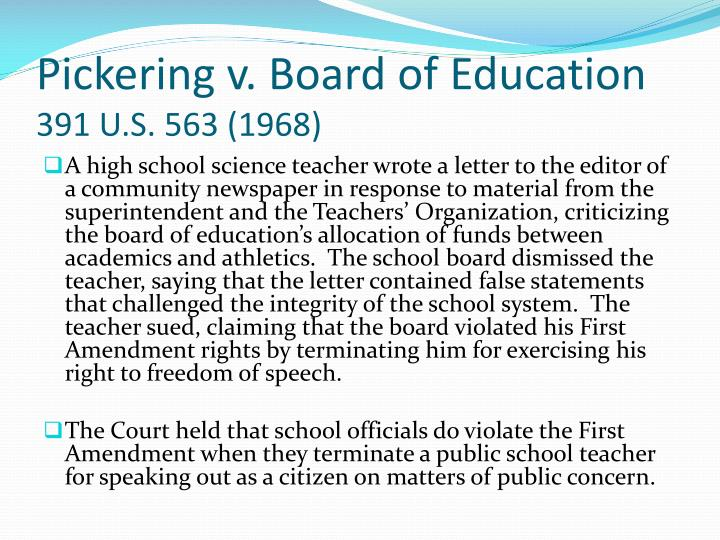 Pickering v. Board of Education