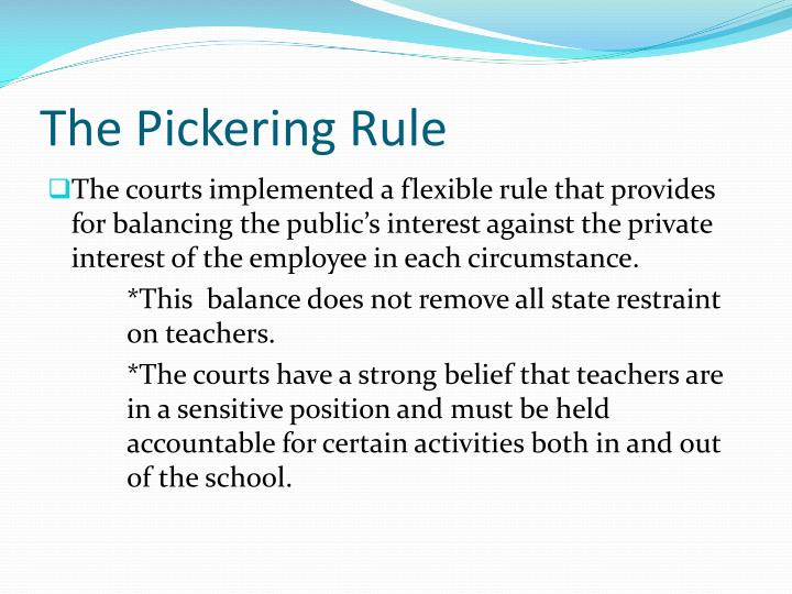 The Pickering Rule