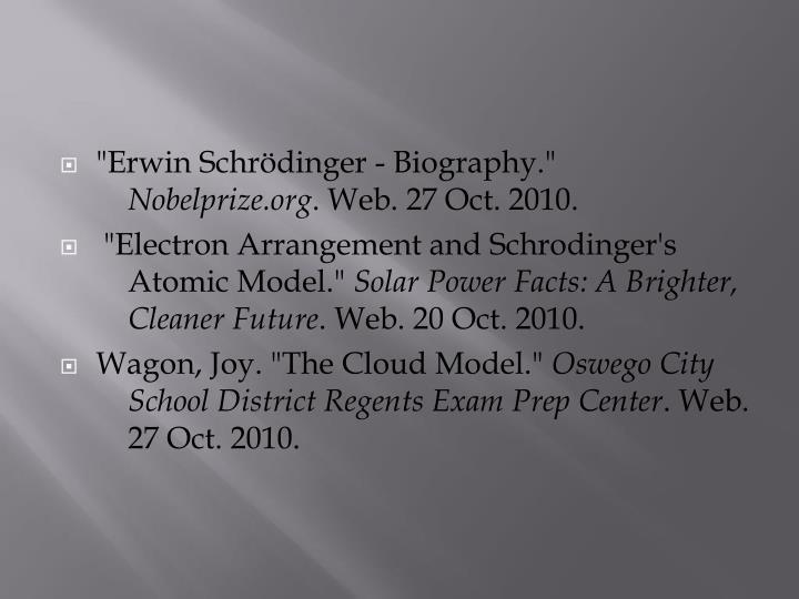 """Erwin Schrödinger - Biography."""