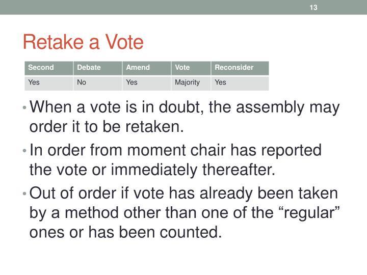 Retake a Vote