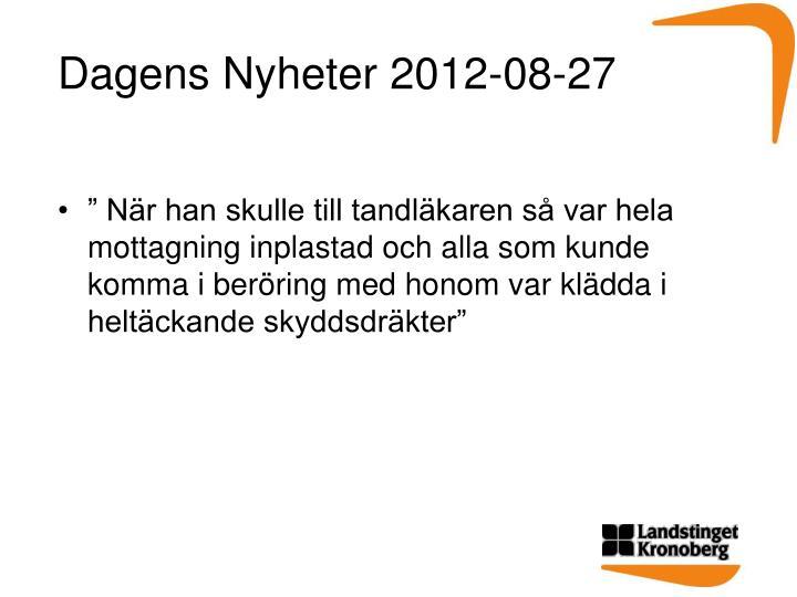 Dagens Nyheter 2012-08-27