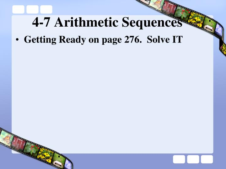 4 7 arithmetic sequences1