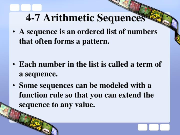 4 7 arithmetic sequences2