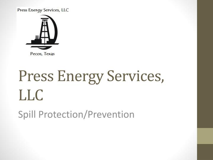 Press energy services llc