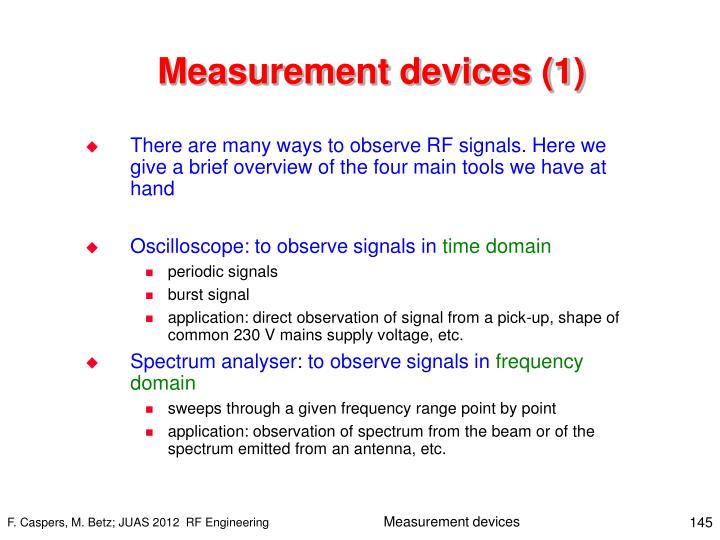Measurement devices (1)