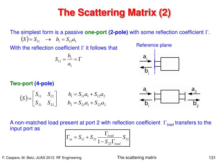 The Scattering Matrix (2)
