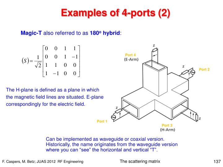 Examples of 4-ports (2)